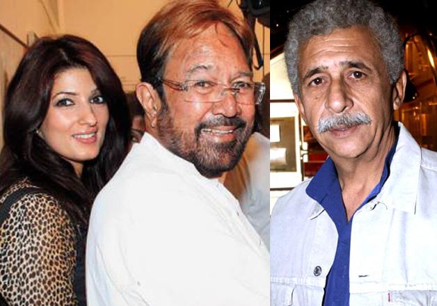Twinkle Khanna, Rajesh Khanna and Naseeruddin Shah
