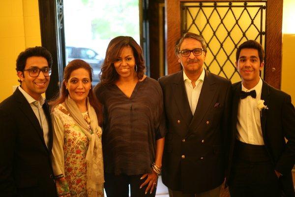 India Tv - Pakistani ambassador to the United States Jalil Abbas Jilani with Michelle Obama