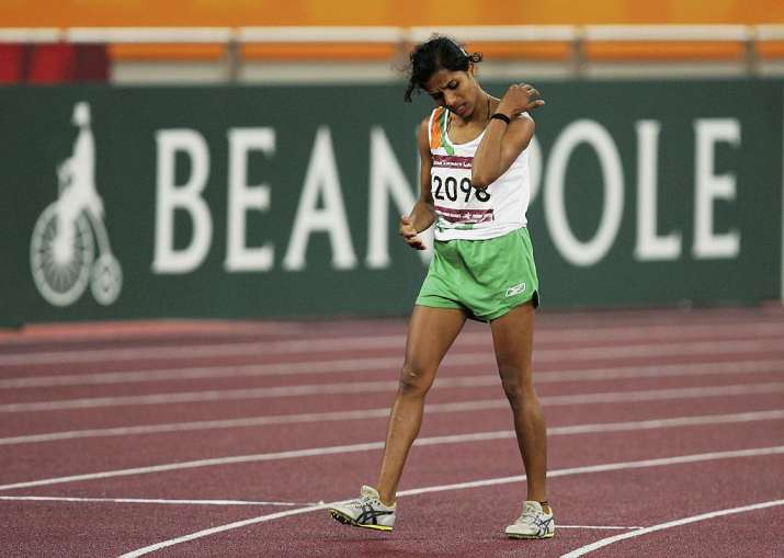 OP Jaisha in 1500m race during the 15th Asian Games Doha