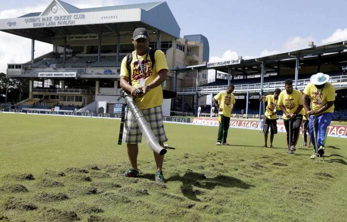 Play abandoned due to Wet outfield, Inadequate drainage