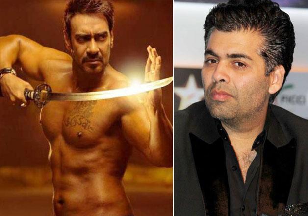 Ajay Devgn and Karan Johar