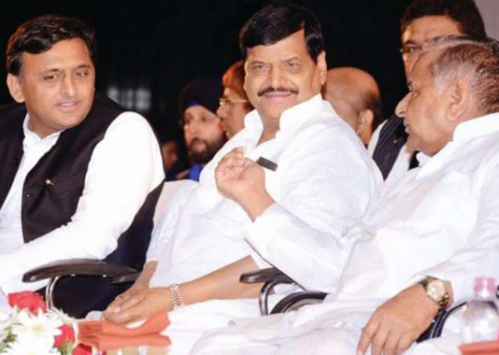 Mulayam with son Akhilkesh and brother Shivpal