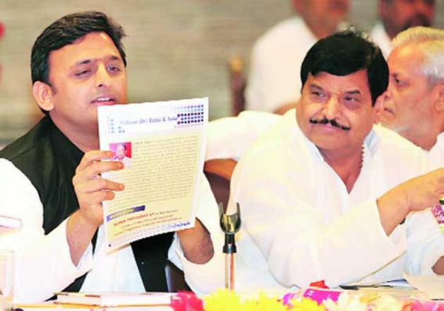 Shivpal Yadav and Akhilesh Yadav
