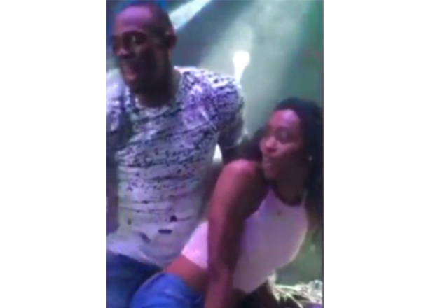 India Tv - Bolt was also caught twerking enthusiastically with another local girl