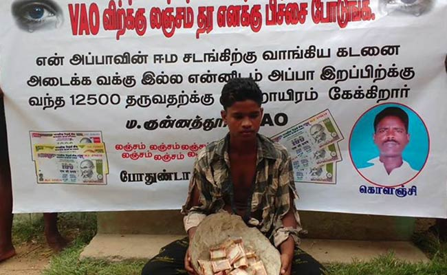 Shameful! Father dead, son begs to pay Rs 3,000 bribe for