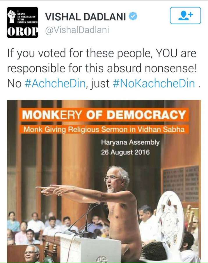 India Tv - Vishal Dadlani tweeted this sarcastic image