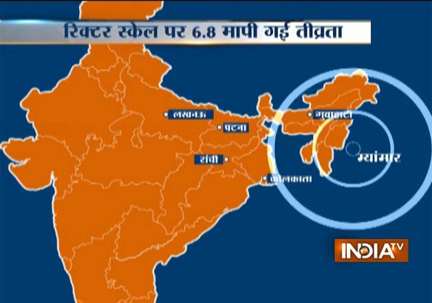 68 magnitude earthquake jolts myanmar northeast india india news earthquake gumiabroncs Image collections