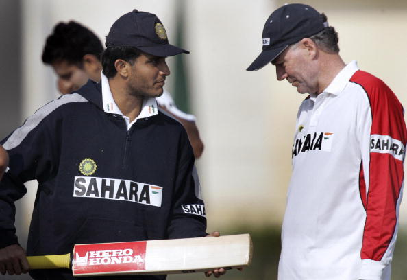 File photo of Greg Chappell with Sourav Ganguly