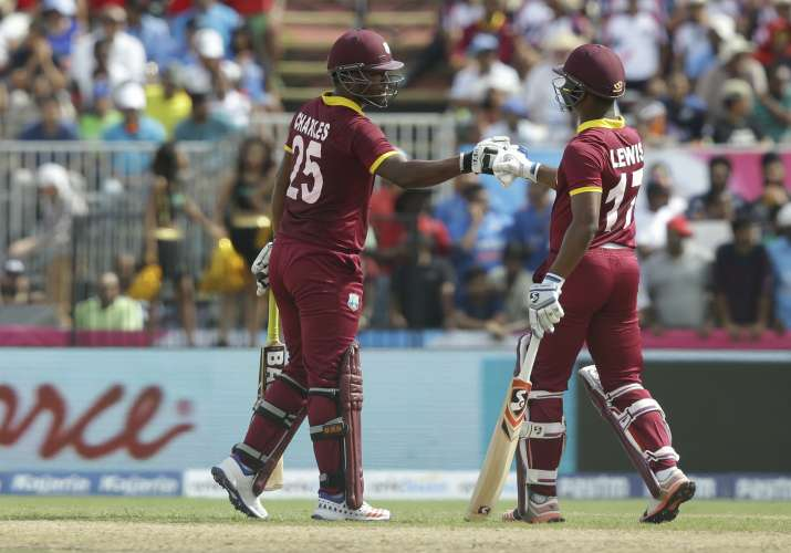 Evin Lewis thrashed Indian bowlers