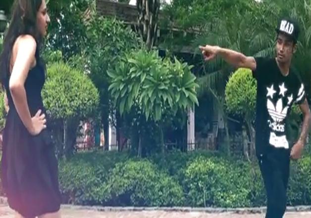 Guy dances his way to girl's heart