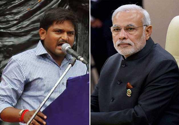 Hardik Patel and Narendra Modi