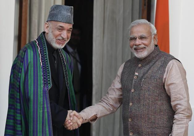 Hamid Karzai and Narendra Modi