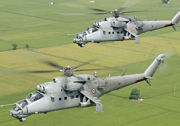 Mi-25 helicopters