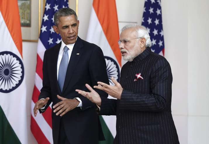 PM MOdi with Prez Obama