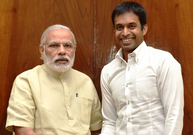 Narendra Modi and Pullela Gopichand