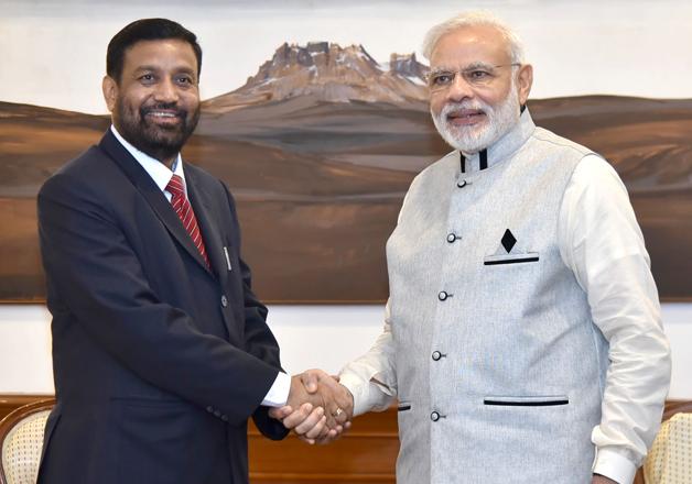 Bimalendra Nidhi and Narendra Modi