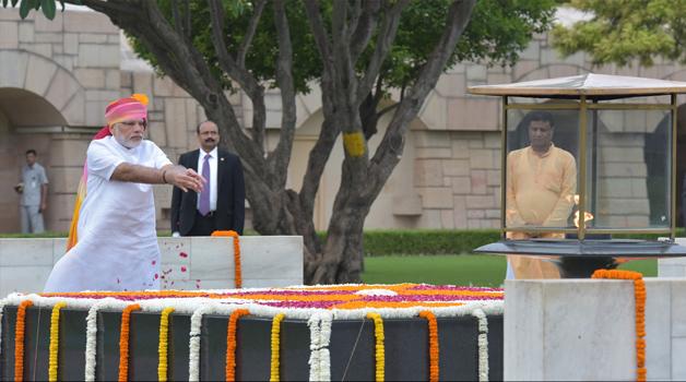 India Tv - PM Modi at Rajghat