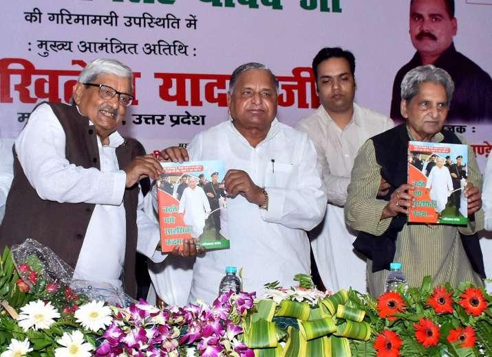 Mulayam Singh Yadav at a book launch
