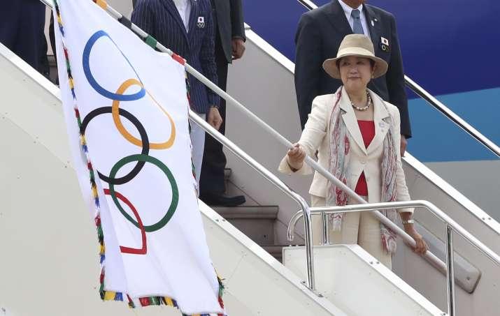Olympic flag arrives in Japanese capital
