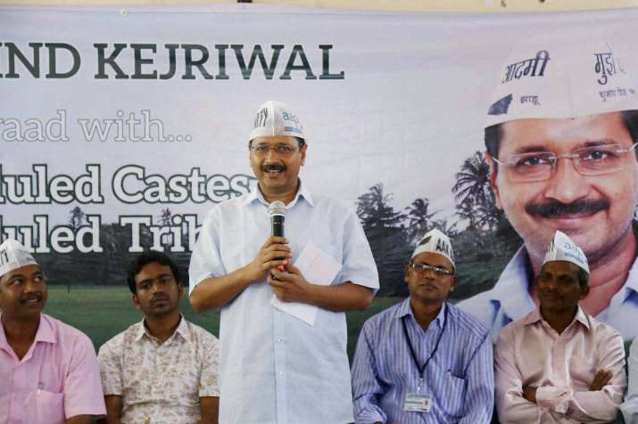 Arvind Kejriwal during a dialogue with the SC/STs at
