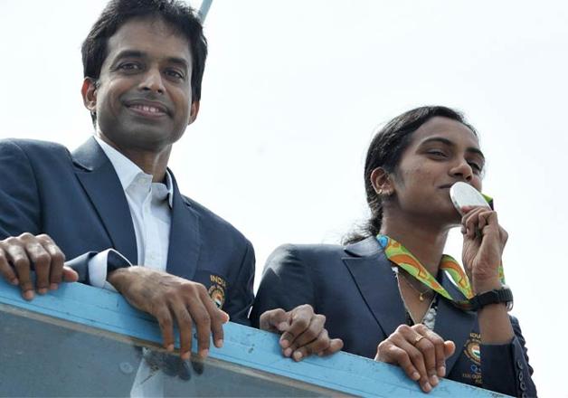 India Tv - Gopichand and PV Sindhu