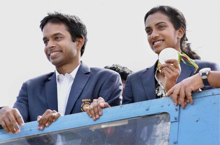 PV Sindhu and P. Gopichand   India TV