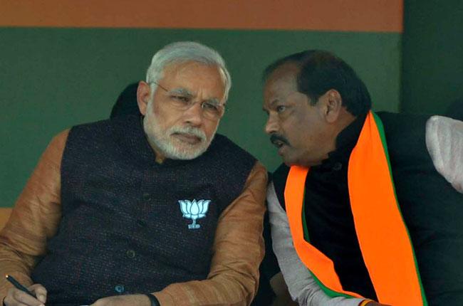 Raghubar Das with PM Modi