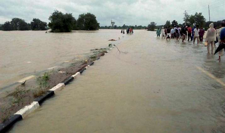 India Tv - Rewa floods