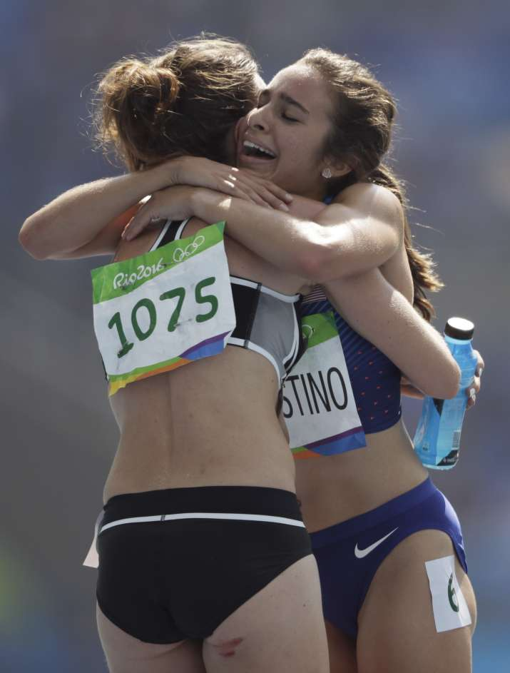 NZ, US athletes help each other finish 5,000 m race after