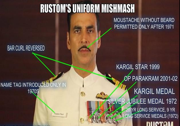 Rustom's uniform