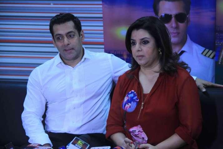 Salman Khan with Farah Khan