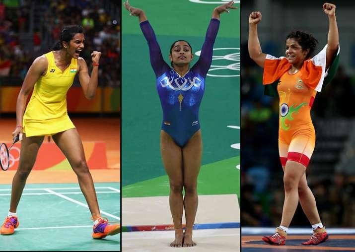 PV Sindhu, Dipa Karmakar and Sakshi Malik at Rio Olympics