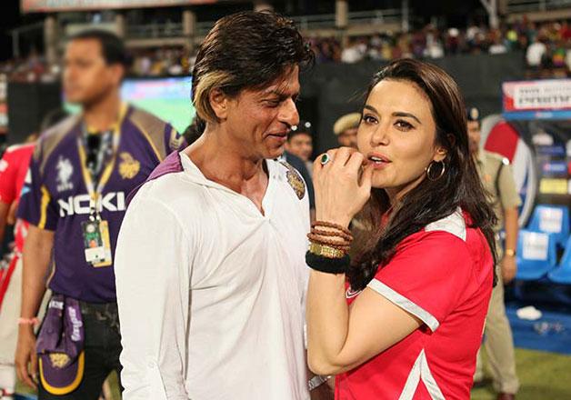 Shah Rukh Khan and Preity Zinta