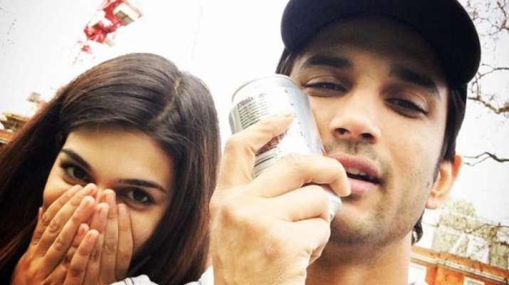 Siushant and Kriti during the filming of 'Raabta'