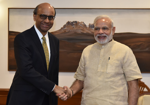 Tharman Shanmugaratnam and Narendra Modi