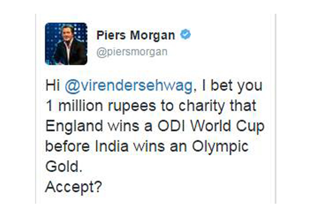 India Tv - This was what Morgan tweeted initially