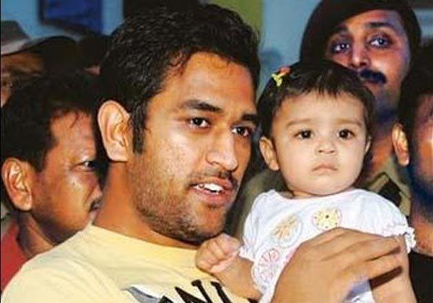 Mahendra Singh Dhoni with daughter Ziva