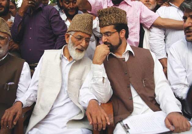 Separatist leaders Syed Ali Shah Geelani, Mirwaiz Umar