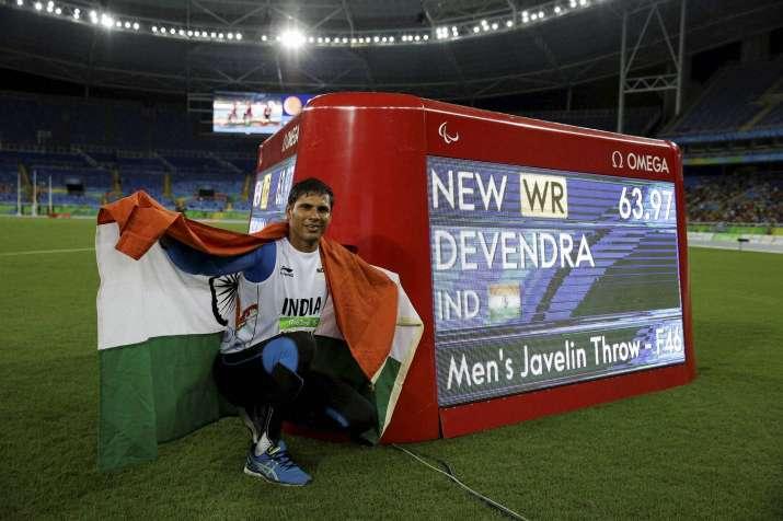 Paralympic gold medallist Devendra Jhajharia
