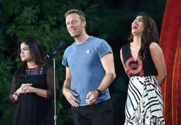 Priyanka Chopra with Chris Martin