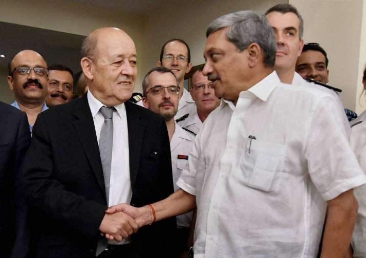 Defence Minister Manohar Parrikar and his French