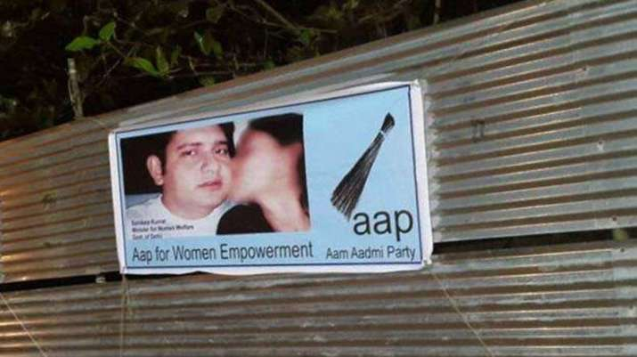 AAP fumes as 'objectionable' posters of Sandeep Kumar