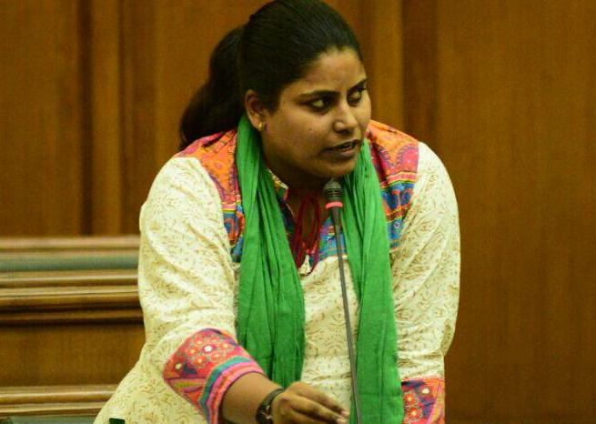 AAP MLA Sarita Singh