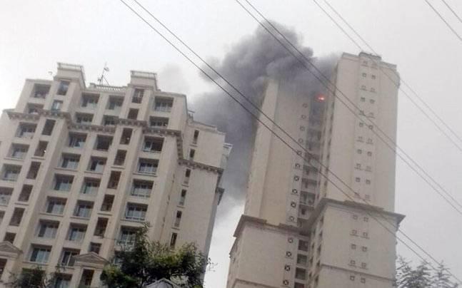 Fire at Hiranandani towers Mumbai