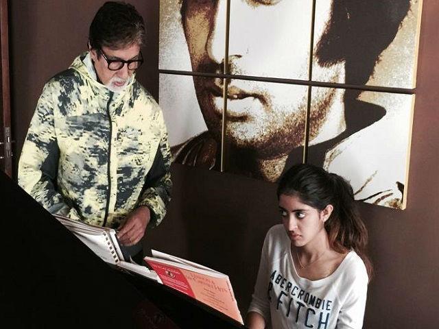 India Tv - Amitabh Bachchan- Navya Naveli Nanda.