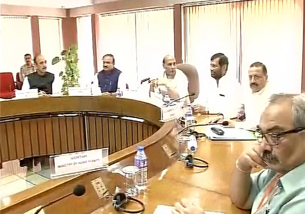 Kashmir-bound all-party delegation meeting in New Delhi