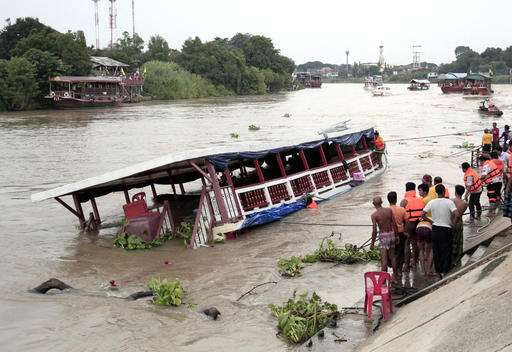 Boat capsizes in Thailand, 13 dead, over 30 injured
