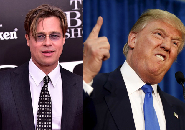Brad Pitt questions the intentions of Donald Trump