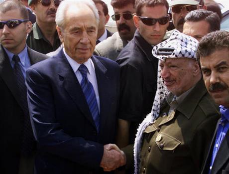India Tv - Peres with Arafat
