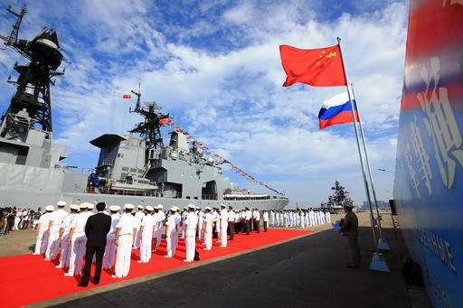 Chinese and Russian navies